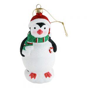 Julhänge Pingvin med Tomteluva - 1-pack