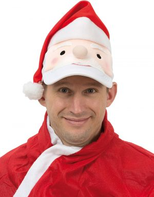Keps med Jultomte och Tomteluva