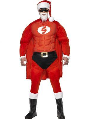 Tomtedräkt Super Santa (Medium)