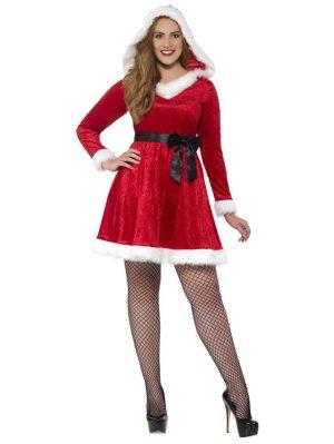 Miss Santa Jul Plus Size Damdräkt